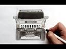 Как нарисовать машину Хаммер Х 2 Ehedov Elnur How to draw a Hummer H2 Step by Step