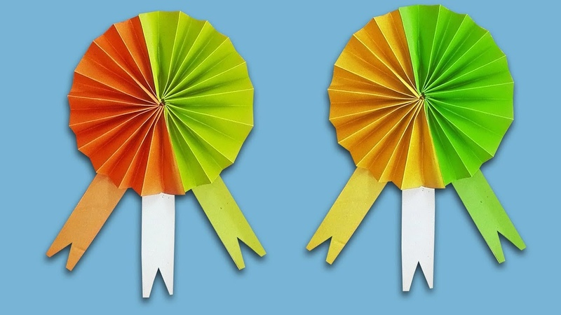 Diy Indian Badge How to make Indian Tricolor Badge Tutorial step by step
