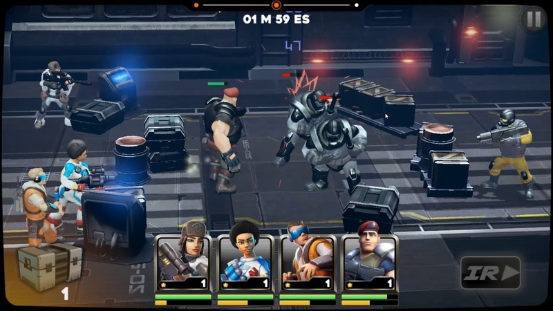 Alpha Squad 5 RPG PvP Online Battle Arena android game first look gameplay español