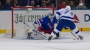 Henrik Lundqvist stones Ryan Callahan's breakaway