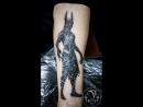 Анубис (black greytattoo) tattooartist Medved Харьков Украина