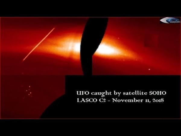 UFO caught by satellite SOHO LASCO C2 - November 11, 2018
