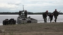 Военные полицейские ВВО в ходе учения предотвратили нападение боевиков на паромную переправу