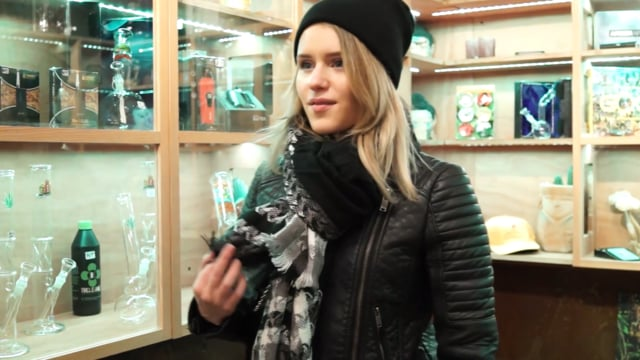 Instagram model 'lovelifelanda' smoking and chilling around amsterdam