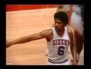 1979 NBA Playoffs ECSF Game 6 San Antonio Spurs @ Philadelphia 76ers - Dr J vs Iceman