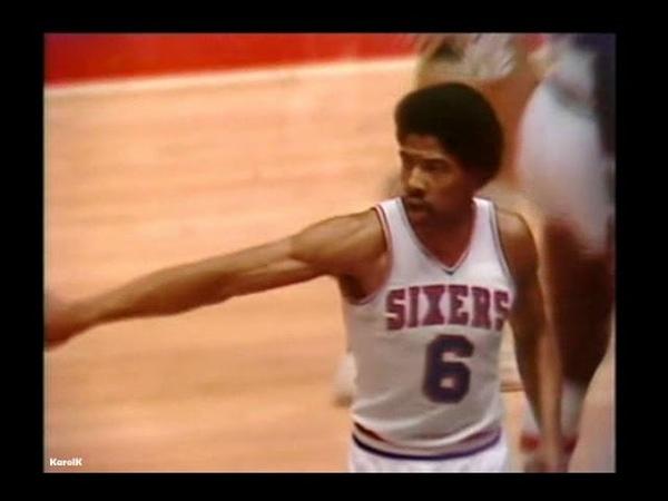 1979 NBA Playoffs ECSF Game 6 San Antonio Spurs @ Philadelphia 76ers - Dr J vs Iceman