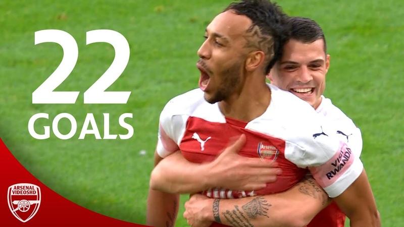 Aubameyang - All 22 Goals For Arsenal