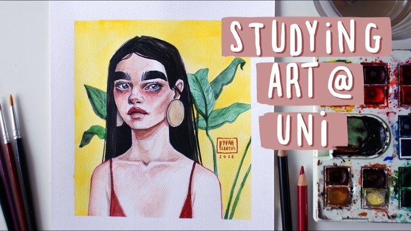 Studying Art at Uni Abroad — Experience Advice watercolour speed painting
