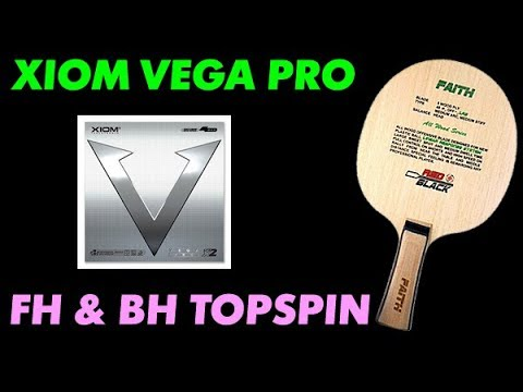 RED BLACK Faith - topspin test with Xiom Vega Pro FH BH
