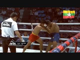 Бирманский бокс летхвей: удары головой. Ah-Ga Golden Belt Champions Challenge Fight.
