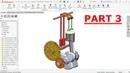 Solidworks tutorial Design of Single cylinder Engine Part 3