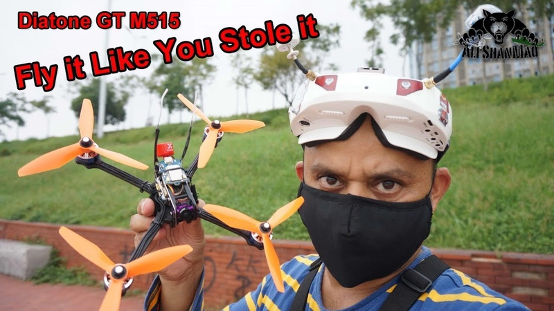 FPV Free Styling Tree Surfing with Diatone GT-M515 FPV Racing Drone