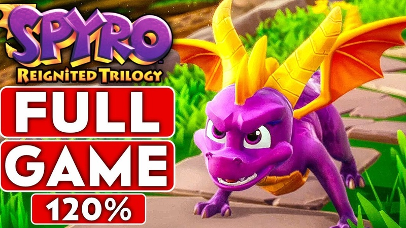 SPYRO REIGNITED TRILOGY Full Game 120% Walkthrough (Spyro The Dragon ALL Dragons, Gems Eggs)