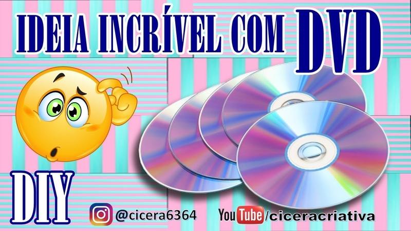 DIY | Ideia criativa com DVD | Cicera Criativa Ft. Simone Braga