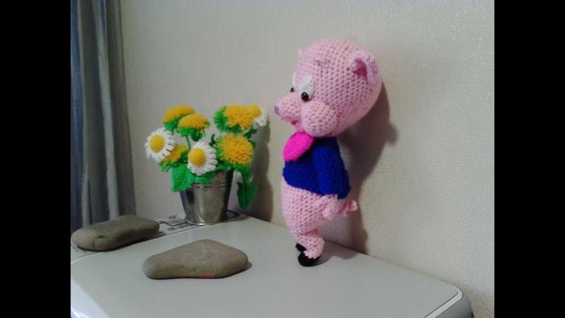 Поросенок Порки ч 3 Porky pig р 3 Amigurumi Crochet Амигуруми Игрушки крючком