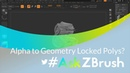 """AskZBrush: """"When creating geometry from an alpha some polys of the model will not transform?"""""""