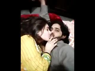 Hot couple enjoying kissing