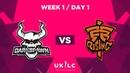 Darkspawn Gaming VS Fnatic Rising | UK League Championship | Week 1 Day 1 | Spring Split 2019