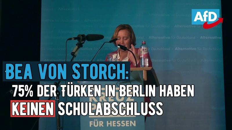 Bea von Storch: 75% der Türken in Berlin haben keinen Schulabschluss | Hessen-Wahl