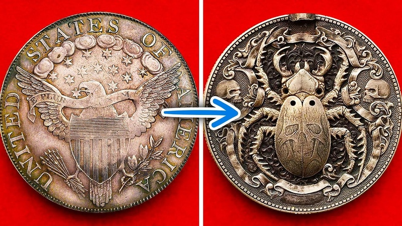 THIS ARTIST TURNS COINS INTO PIECES OF ART