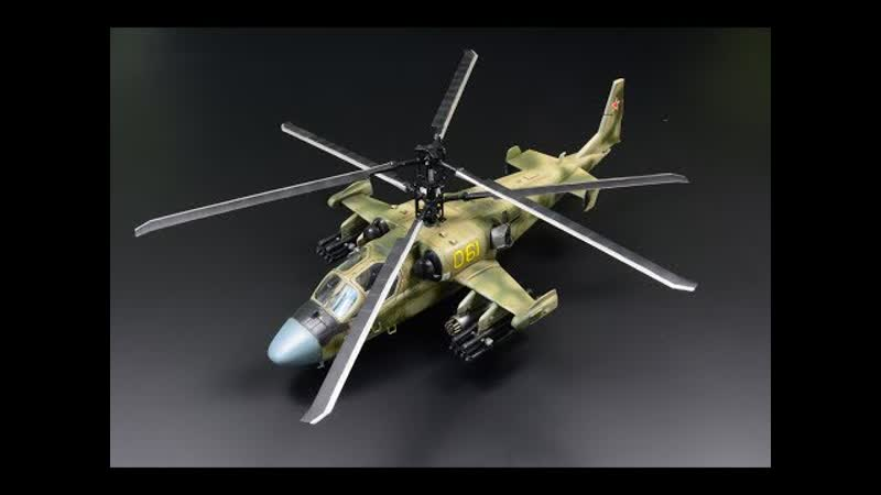 "Kamov Ka-52 Alligator _""Hokum-B_"" 1_⁄72 Italeri - Helicopter Model"