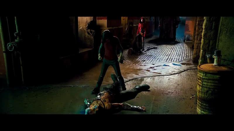 Фрагмент из фантастического фильма Алита Боевой ангелAlita Battle Angel 2018 Alita Vs Cyborgs Fight Scene
