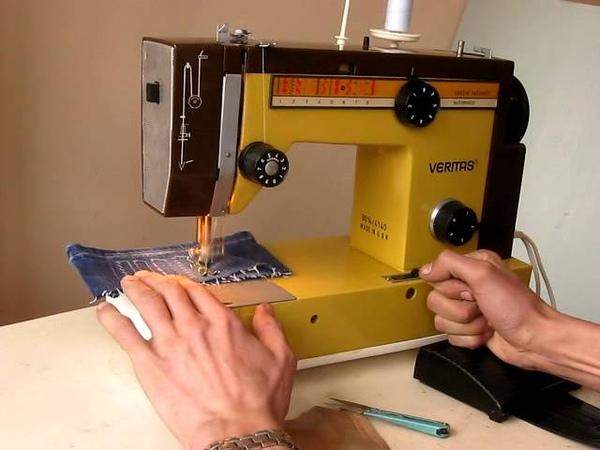 Sewing machine Швейная машина Veritas Веритас 8014/4140 test шифон, джинс, кожа.