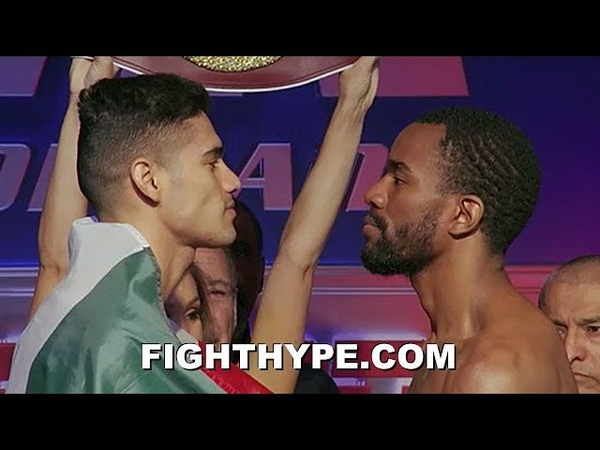 GILBERTO RAMIREZ VS. JESSE HART 2 WEIGH-IN INTENSE STAREDOWN AS NEITHER MAN BACKS DOWN