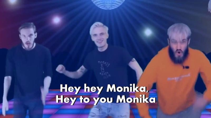 PewDiePie - Hej Monika (English Lyrics) ft. Party In Backyard