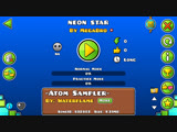 Geometry dash-Neon Star By MegaBro(me)