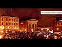 """Protester fortsätter i Stockholm mot kritiserat FN avtal Makteliten förstör Sverige"""" Mynttorget"""