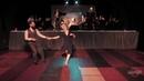 Pamela Gaizutyle and Juan Villafane lindy hop performance in Swingtiago