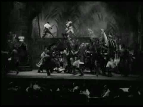 Orson Welles Production of Voodoo Macbeth, (From 1936 Documentary Film, We Work Again)