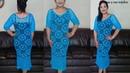Vestido con pastillas a crochetmanga y largo