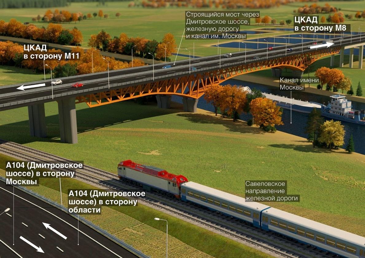 Уникальный по своим масштабам мост появится в Дмитровском округе