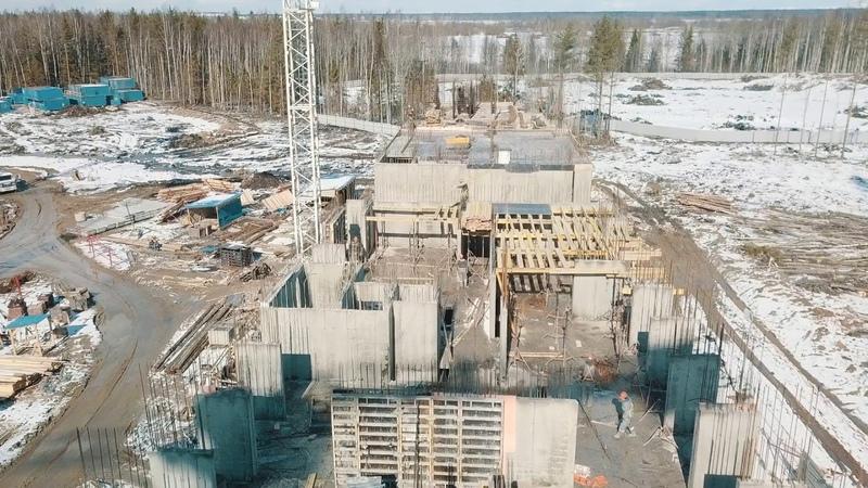 Ход строительства ЖК NEW TIME в Приморском районе Санкт-Петербурга. Апрель 2019 года