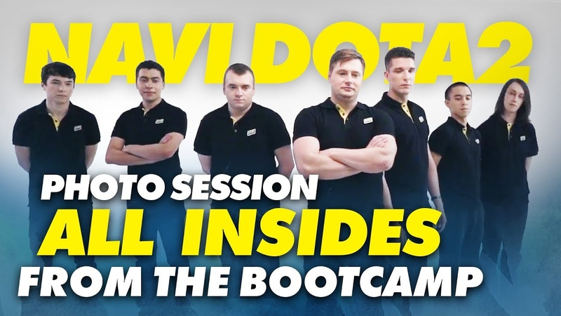 NAVI Dota2 photo session and ALL INSIDES from the bootcamp
