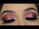 Classic Rose Glitter Eye Makeup HUDA BEAUTY NEW NUDE PALETTE TUTORIAL