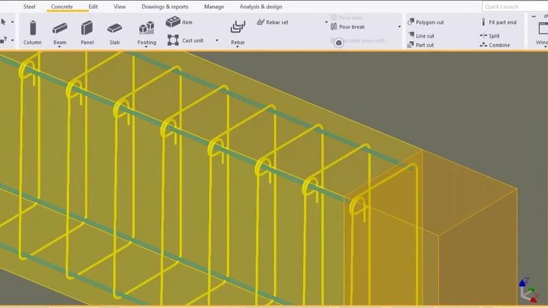 Армирование ЖБК в Tekla Structures (одиночные стержни и группы стержней)