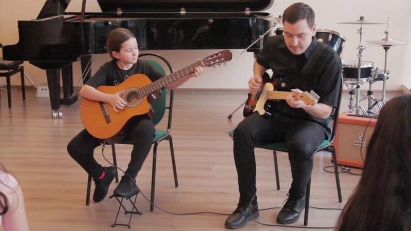 Мелодия из мф Гравити Фолз (OST) - Анастасия Котова (Гитара,электрогитара) - Андрей Жуйков