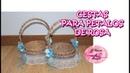 Como hacer Cestas de carton y trenzas de periodico para petalos de rosa en las bodas