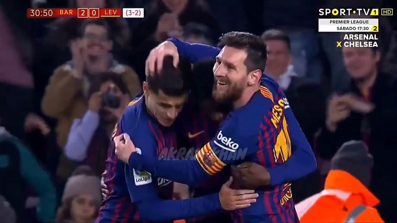 17.01.2019 Барселона - Леванте 3:0 обзор матча гол Месси и дембеле