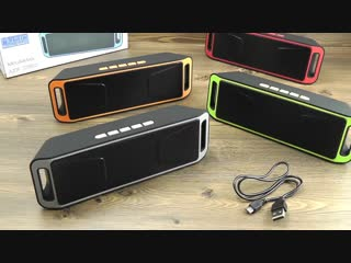 [Электробум] ОБЗОР: Портативный Стерео Bluetooth Бумбокс с FM Радио, USB и microSD Поддержкой