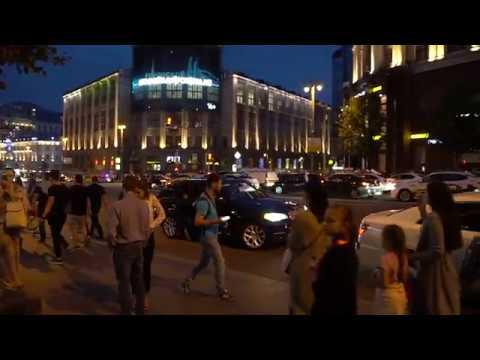 Россия - Испания. Москва отмечает победу Сборной России над Испанией. ЧМ - 2018.