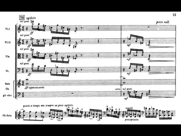 Alberto Ginastera - Concerto for Strings, Op. 33 (1966) [Score-Video]