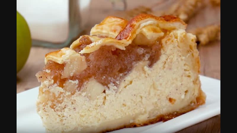 Яблочный чизкейк | Больше рецептов в группе Десертомания