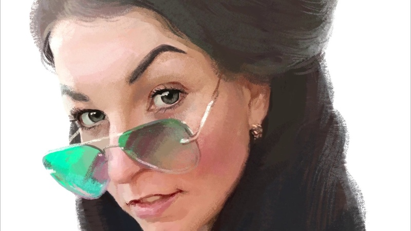 ДИДЖИТАЛ ПОРТРЕТ В ФОТОШОПЕ. Цифровая живопись. Painting a Digital Portrait in Photoshop. SPEED ART