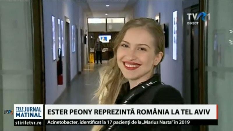 Eurovision2019 Ester Peony, interviu în Telejurnalul matinal, la TVR1