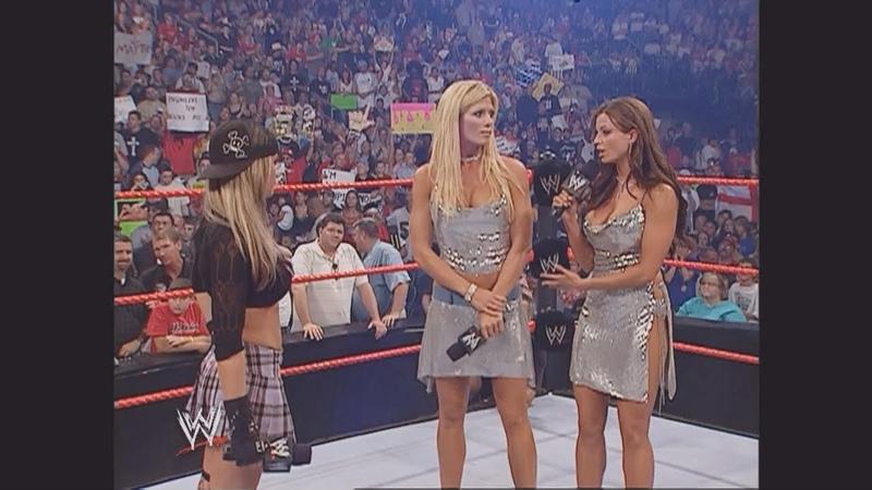 Torrie Wilson, Candice Michelle, Ashley Victoria Segment: Raw, Aug. 29, 2005
