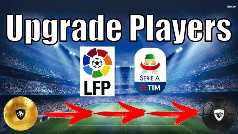 Upgrade players La Liga and Seria A in PES 2020